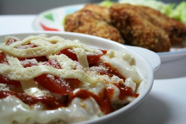 鶏肉とトマトのドリアにしました~