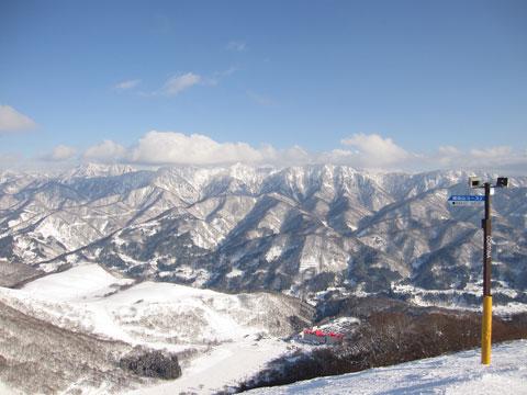稗田山尾根からの眺め