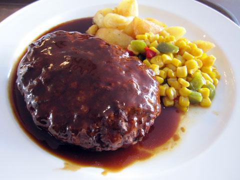 ジャンボハンバーグステーキ&ライス