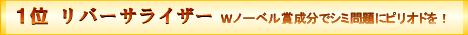 1位 リバーサライザー Wノーベル賞成分でシミ問題にピリオドを!