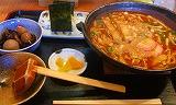 いっぽ定食-味噌煮込み・おにぎりチェンジ
