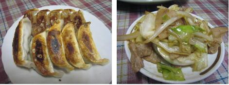 餃子★野菜炒め