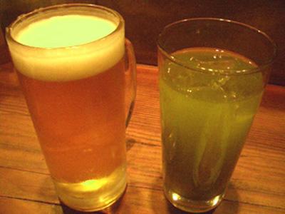 渋谷 庵ぐり 緑茶割り 緑茶ハイ 玄米緑茶割り コウバシ茶 美味しいお店