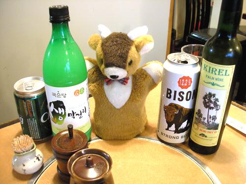 お鹿チャンと各国の酒