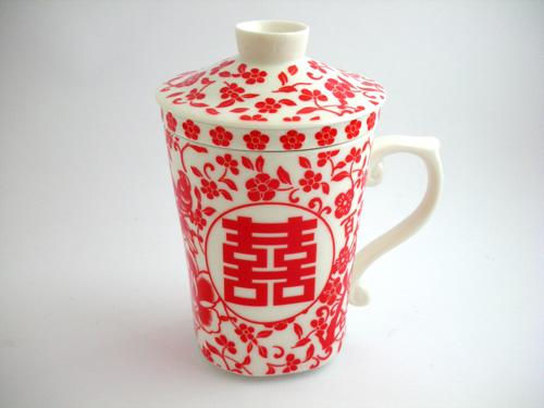 ダブルハピネス柄マグカップ