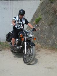 二男バイク