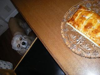 パイを見つめる