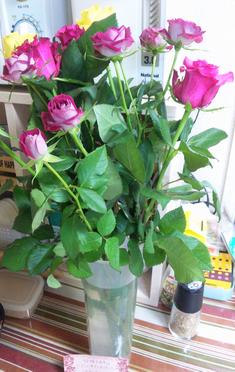 8本のバラ