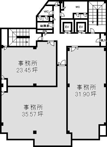 新大阪貸・レンタルオフィス・SOHO事務所 アストロ新大阪第2ビル図面