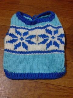雪のセーター