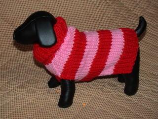 ボーダーセーター赤