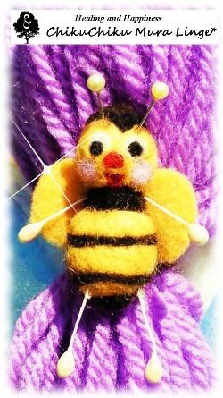 蜂さんのヘアゴム☆