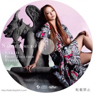 安室奈美恵 NAKED/Fight Together/Tempest CD+DVDラベル
