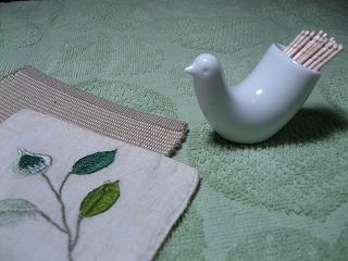 白山陶器の楊枝入れ1