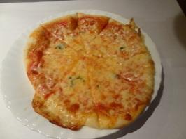 プリプリ海老マヨのクリームピザ