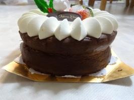 キャナリーロウのクリスマスケーキを横から撮ったもの