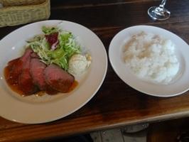 ローストビーフとご飯