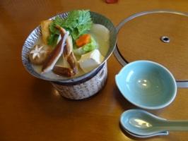 冬の御膳の甲羅風のごん鍋