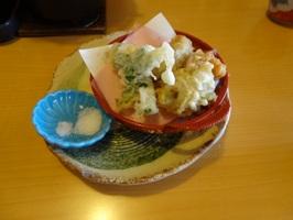 海鮮御膳の天ぷら