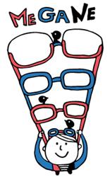眼鏡は体の一部です。