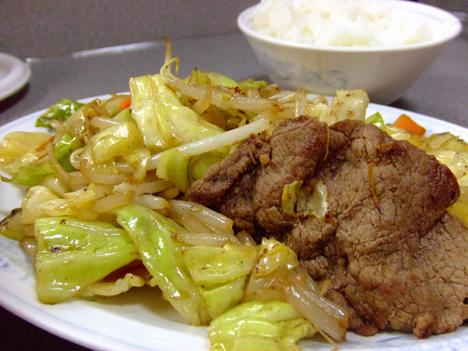 定食の野菜炒め
