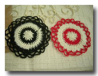 編み目麗しいコースター
