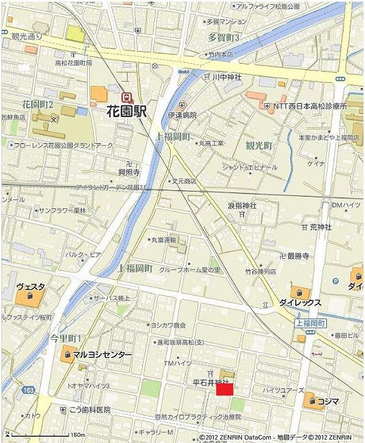 s-香川県高松市上福岡町2032_5の地図印刷(A4タテ×スクロール地図) _ いつもNAVI-2