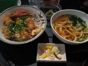 大阪 蛸葱天丼セット