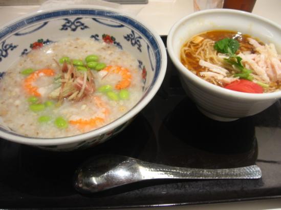 BA+えびと枝豆のとろろ粥とサンラー麺+(1)