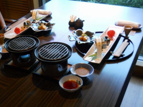 嵯峨沢館夕食 (1)