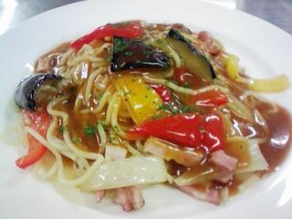 8.28夏野菜あんかけスパ