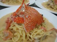 12.9わたり蟹トマトクリーム