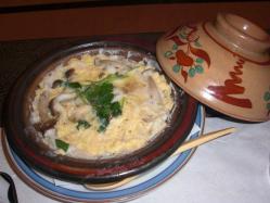 鍋物はしらうおの卵とじ