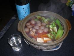 茎セロリと地鶏の鍋