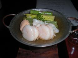 イタヤ貝の小春鍋