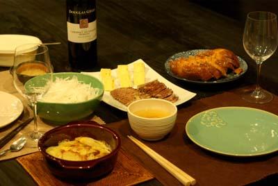 ワインと軽い夕食