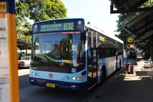 632番のバス