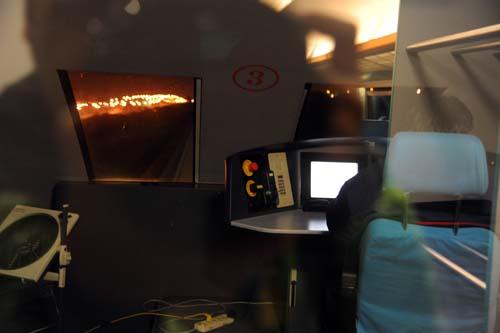 リニアの運転室