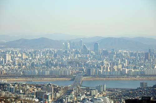 ソウルタワーからの眺望