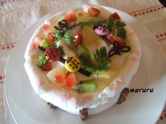 04月 野原のケーキ