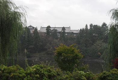 8 荒池と奈良ホテル