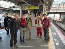 8 帰路JR芦屋駅にて