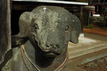高水山常福院龍学寺の狛犬