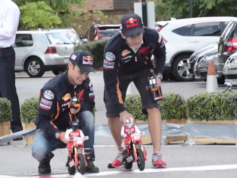 2013Repsol Honda MotoGP riders at Honda HQ