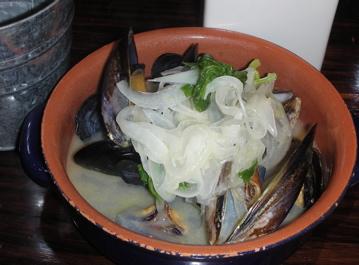 ムール貝のホワイトビール蒸し