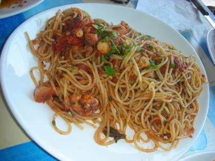 タコのトマトソーススパゲッティ@レノ