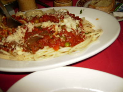タ・コリーナの兎のスパゲッティー