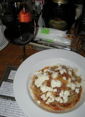 スパゲッティー・アンチョビトマトソース・ピカンテ