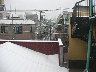 下町の雪景色