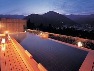 下呂温泉 ホテルくさかべアルメリア 「 8F展望露天風呂 花見月の湯 」